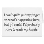 No puede poner muy mi dedo en él estándar tarjeta
