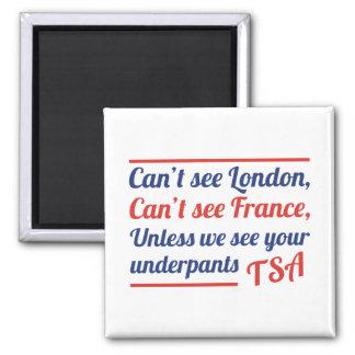 No puede ver Londres Imán Cuadrado