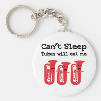 No pueden dormir, las tubas me comerán llavero redondo tipo pin