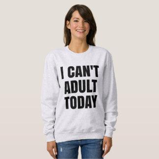 No puedo camiseta adulta del suéter del hoy