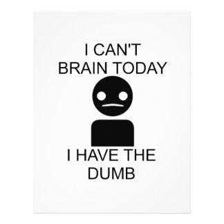 No puedo cerebro hoy… Tengo el mudo Membretes Personalizados