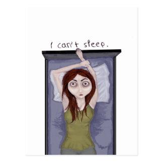 No puedo dormir postal