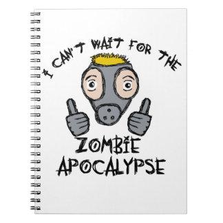 ¡No puedo esperar la APOCALIPSIS del ZOMBI! Spiral Notebooks