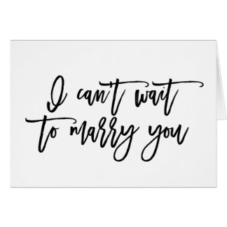 No puedo esperar para casarle tarjeta del día de