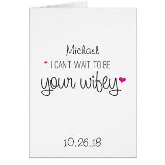 No puedo esperar para ser su boda del marido de la tarjeta de felicitación