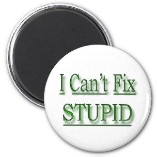 No puedo fijar verde estúpido imán redondo 5 cm