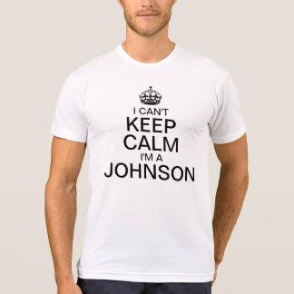 No puedo guardar calma para personalizar apellido camiseta