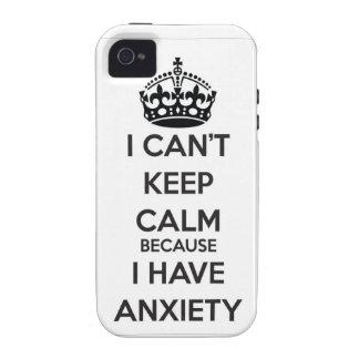 No puedo guardar calma porque tengo ansiedad vibe iPhone 4 funda