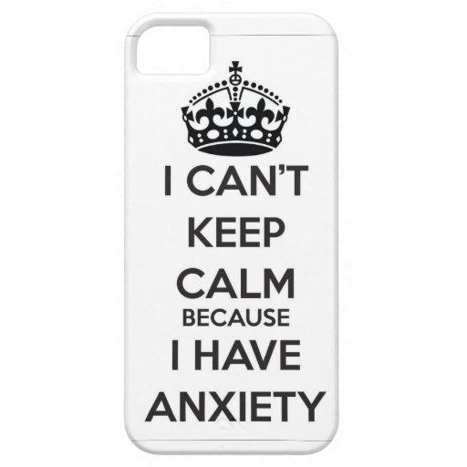 No puedo guardar calma porque tengo ansiedad iPhone 5 Case-Mate cobertura