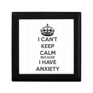 No puedo guardar calma porque tengo ansiedad cajas de joyas