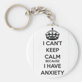 No puedo guardar calma porque tengo ansiedad llavero redondo tipo pin