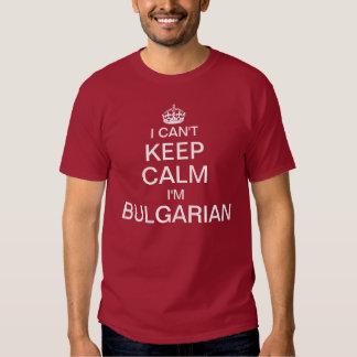 No puedo guardar calma que soy búlgaro playeras