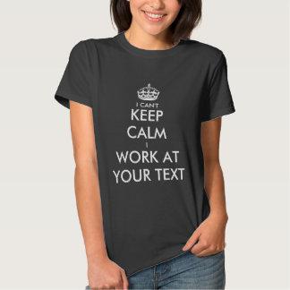 No puedo guardar calma que trabajo en la camiseta playera