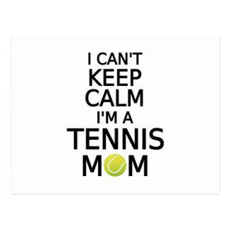 No puedo guardar calma, yo soy una mamá del tenis postales