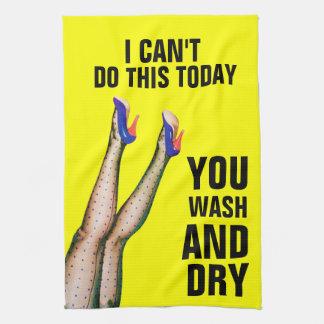 No puedo hacer esto - usted lavado y toalla de coc