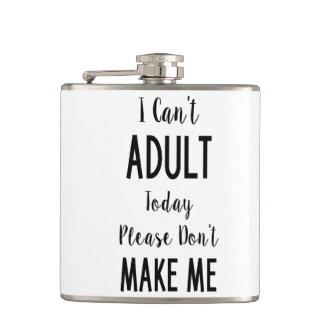 No puedo hoy adulto - cita divertida, humor petaca