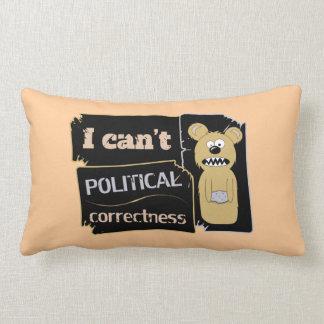 No puedo llevar corectness político almohadas