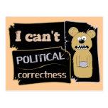 No puedo llevar corectness político postal