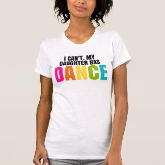 No puedo.  Mi hija tiene danza Camisas