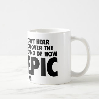 No puedo oírle sobre el sonido de cómo es la taza básica blanca