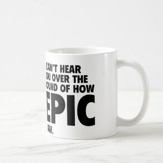 No puedo oírle sobre el sonido de cómo es la taza clásica