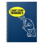 ¡No puedo parar el pensar! Libreta Espiral