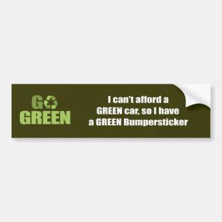 No puedo permitirme un coche verde así que tengo pegatina de parachoque