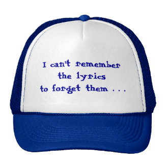 No puedo recordar gorras