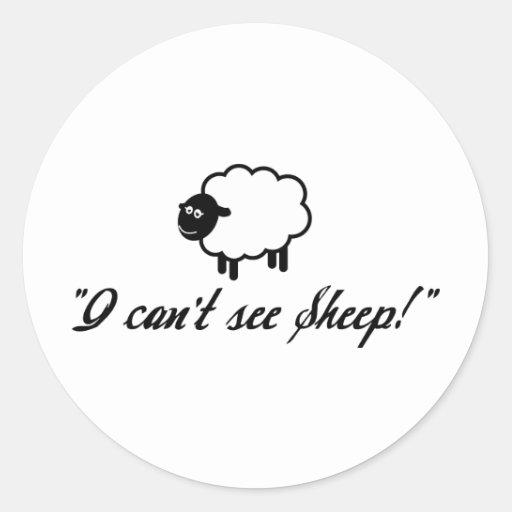 ¡No puedo ver ovejas! Etiquetas Redondas