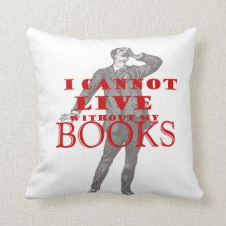 No puedo vivir sin los libros cojin