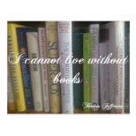 No puedo vivir sin los libros tarjetas postales