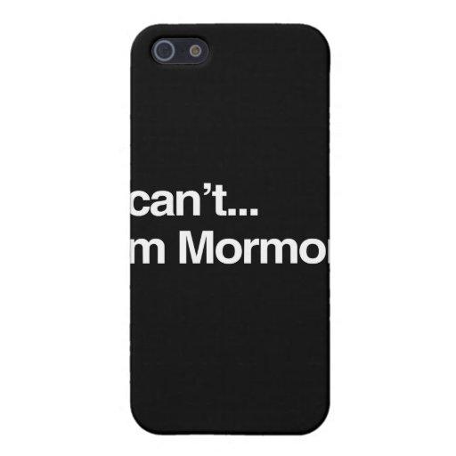 NO PUEDO, yo soy MORMON.png iPhone 5 Protectores