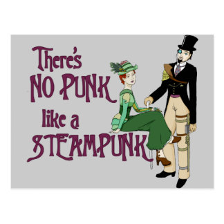 No Punk like a Steampunk Postcard