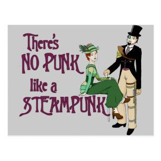 No Punk like a Steampunk Postcard