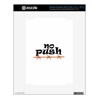 NO PUSH Don't Tread On Me NOOK Decal