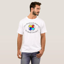 No Puzzle Pieces Autism Respect T-shirt
