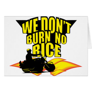 ¡No quemamos ningún arroz! Tarjeta De Felicitación