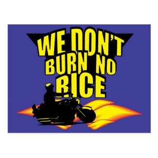 No quemamos ningún arroz tarjeta postal