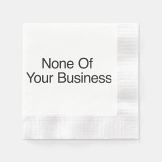 No Questions Asked Coined Cocktail Napkin