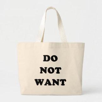 No quiera bolsas