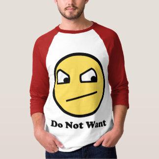 No quiera la cara impresionante camisas