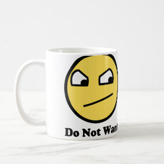 No quiera la cara impresionante taza de café