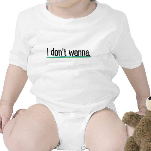No quiero - a niños trajes de bebé