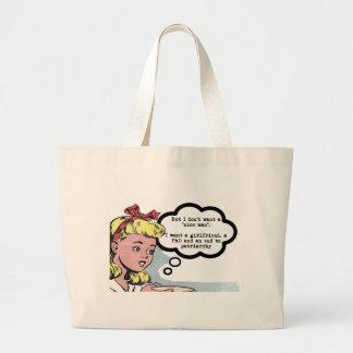 """No quiero a un """"hombre agradable"""" (el feminismo) bolsa de mano"""