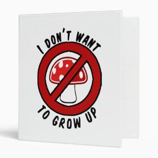 """No quiero crecer la seta roja carpeta 1"""""""