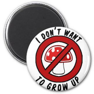 No quiero crecer la seta roja imán redondo 5 cm
