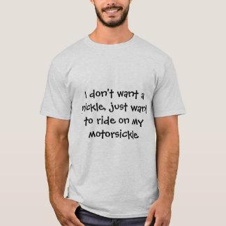 No quiero una salmuera, camiseta