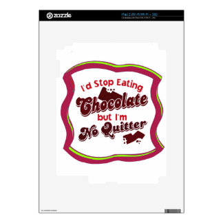 No Quitter Decal For iPad 2
