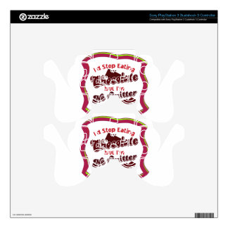 No Quitter PS3 Controller Decal