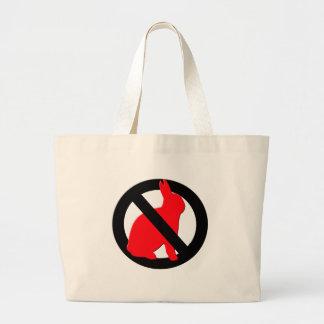 No Rabbits Allowed Jumbo Tote Bag